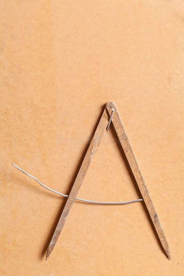 Diviseur de charpentier de vintage photo stock