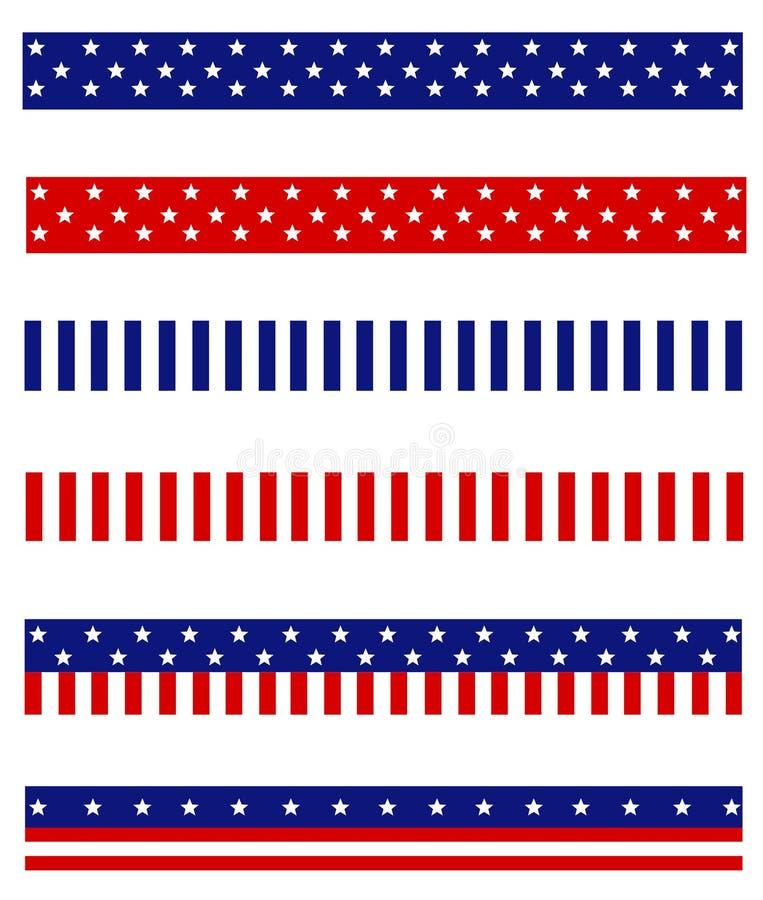 Diviseur patriotique de cadre illustration de vecteur