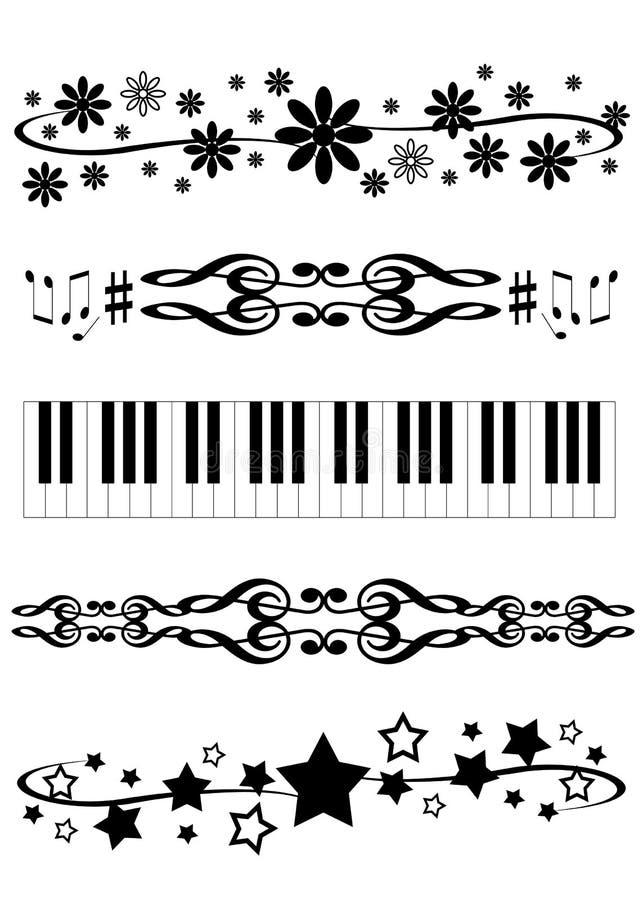 Diviseurs décoratifs illustration stock