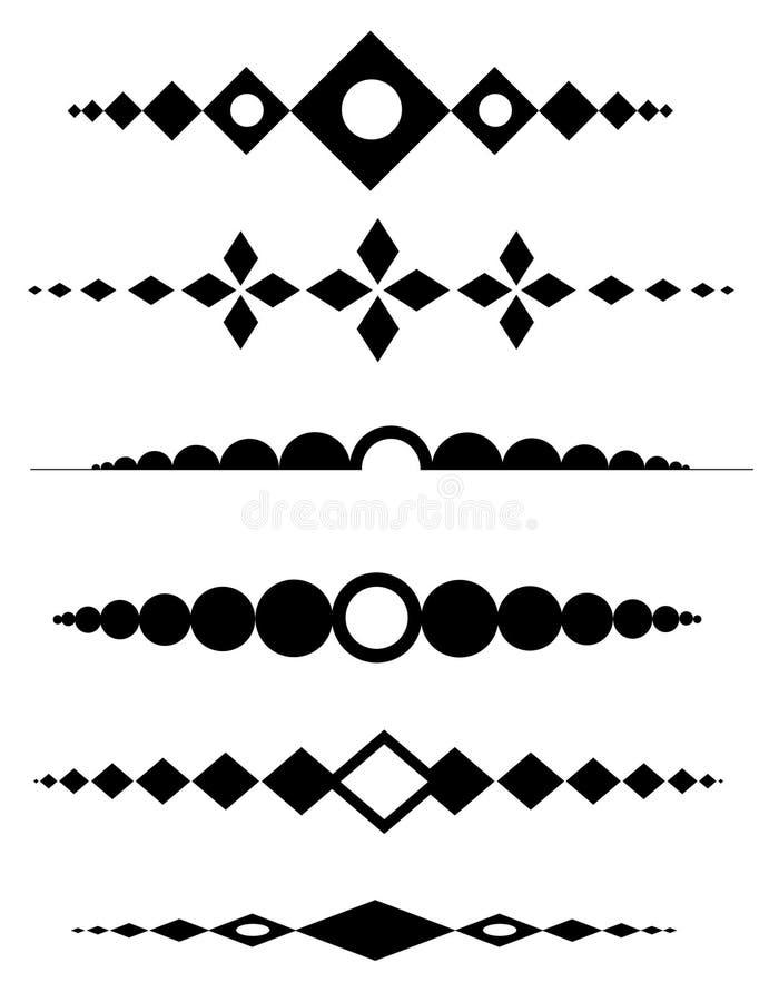 Diviseurs décoratifs illustration de vecteur