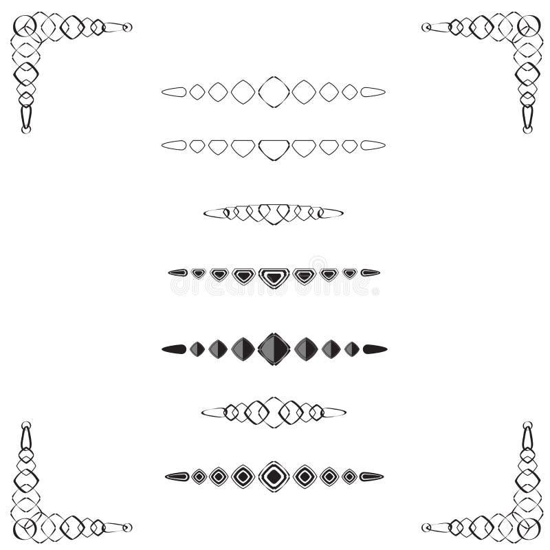 Diviseurs en forme de diamant de page illustration de vecteur