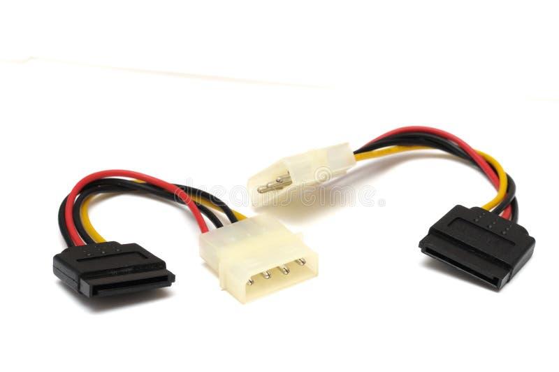 Diviseurs périodiques de carte mère d'ordinateur et de cable électrique d'ATA de lecteur de disque dur image libre de droits