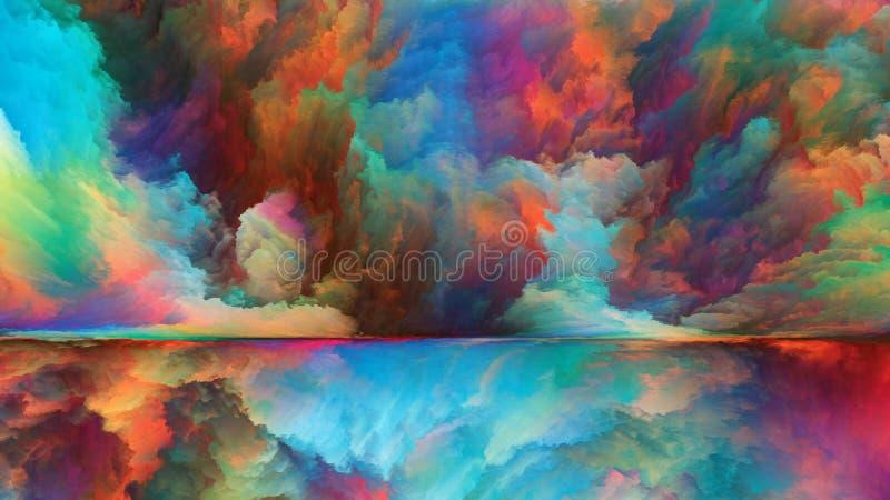 División colorida del horizonte ilustración del vector