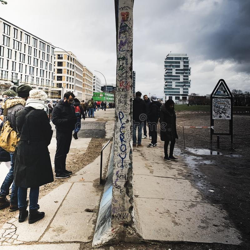 División de Alemania del muro de Berlín fotos de archivo libres de regalías