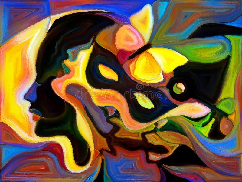 Division conceptuelle de couleur illustration libre de droits