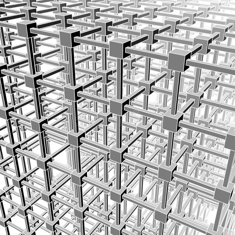 Division d'espace cubique illustration de vecteur
