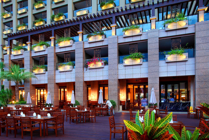 Division de mer de Sanya de l'hôtel de quatre saisons photographie stock libre de droits