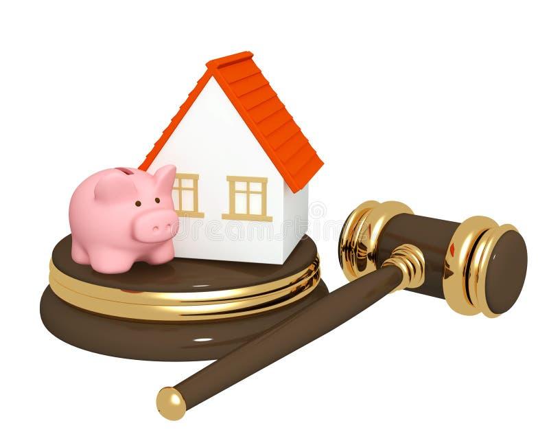 Division de propriété au divorce illustration libre de droits
