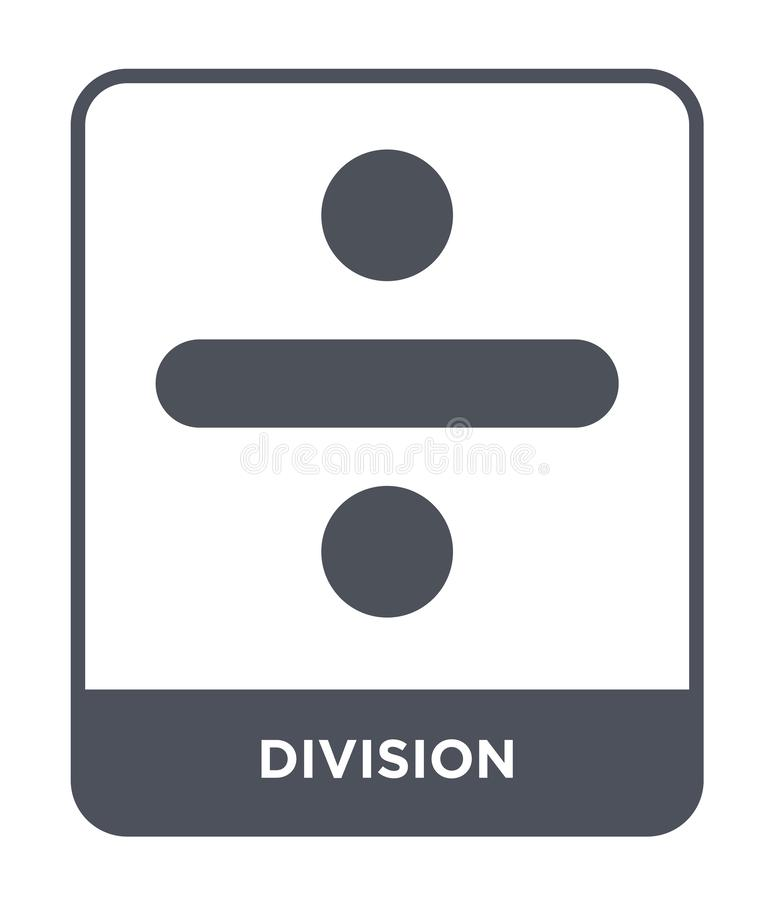 division icon in trendy design style. division icon isolated on white background. division vector icon simple and modern flat vector illustration