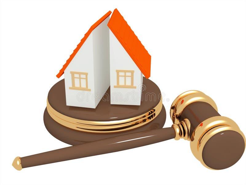 Division of property at divorce. Conceptual image - division of property at divorce royalty free illustration