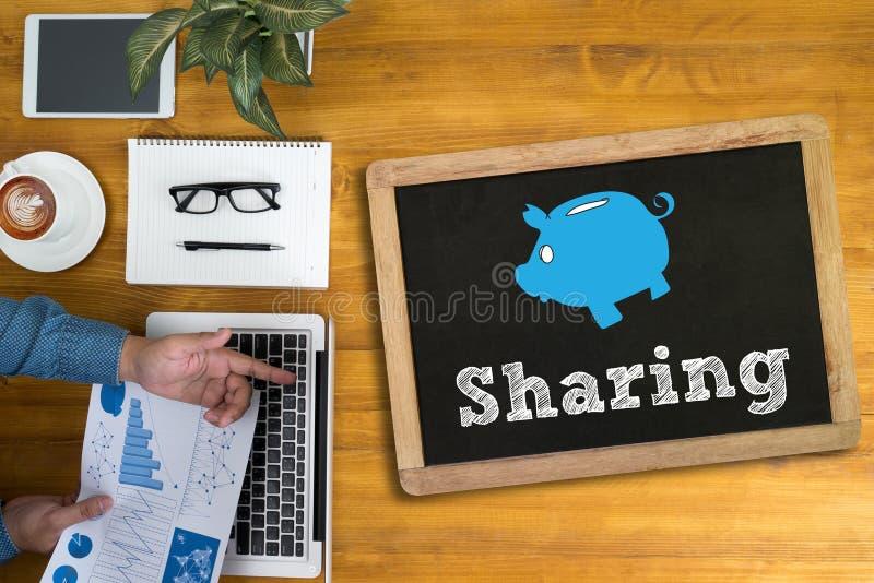 Divisione (che divide il collegamento Communicatio della rete sociale della parte immagini stock