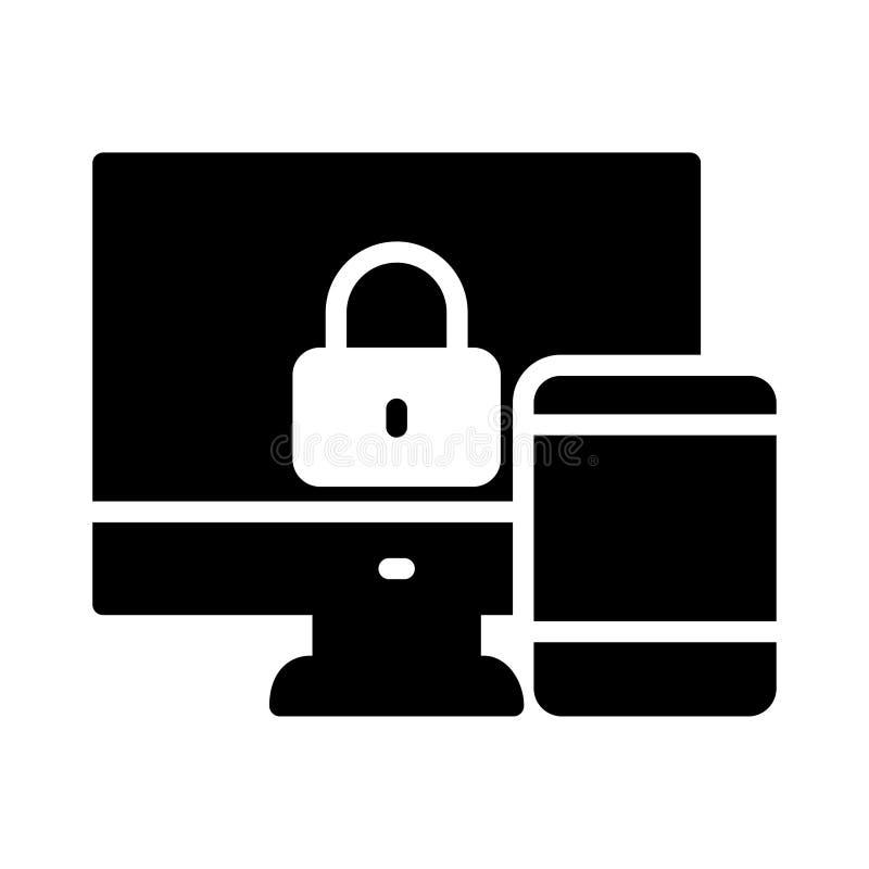 Divisione dell'icona piana di vettore di glifo royalty illustrazione gratis