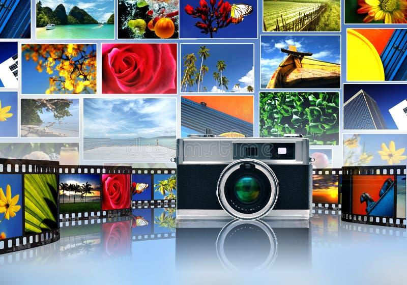 Divisione di immagine e di fotografia illustrazione vettoriale