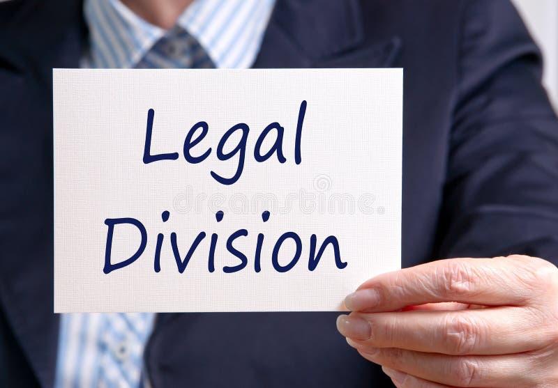 Divisione legale immagini stock