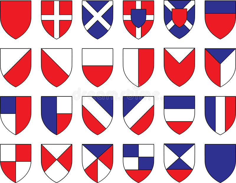 Download Divisions of the shield stock vector. Image of protection - 33521657
