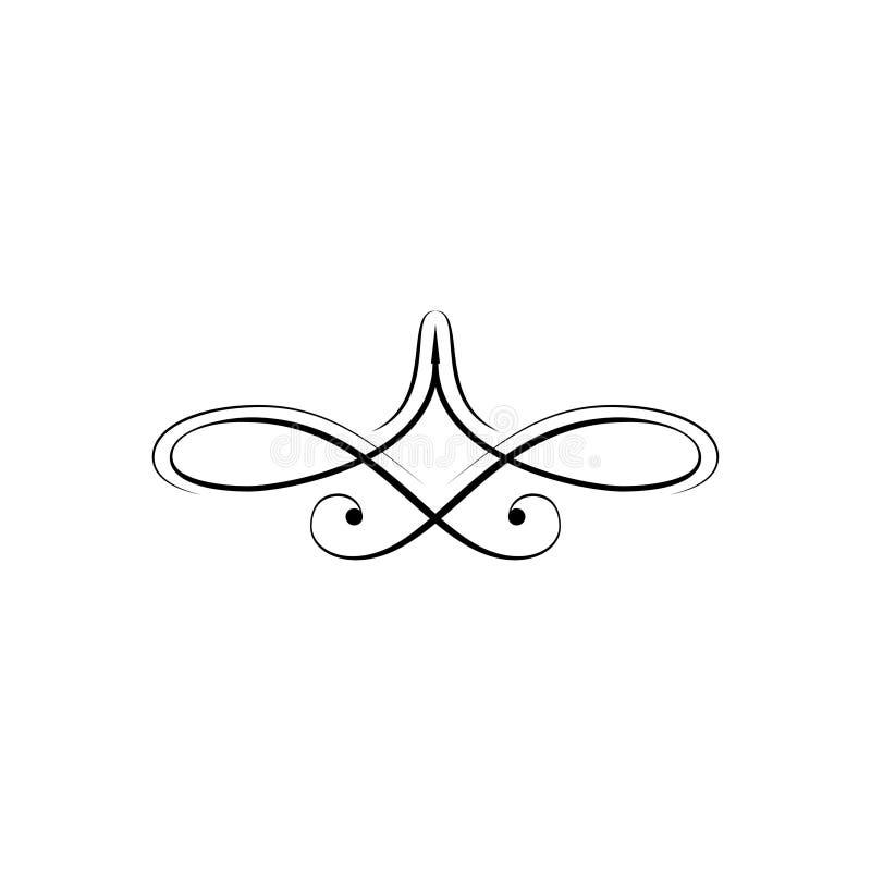Divisor da página e elemento do projeto ilustração stock