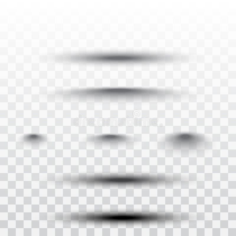 Divisor de la página con las sombras transparentes aisladas Sistema del vector de la separación de las páginas libre illustration