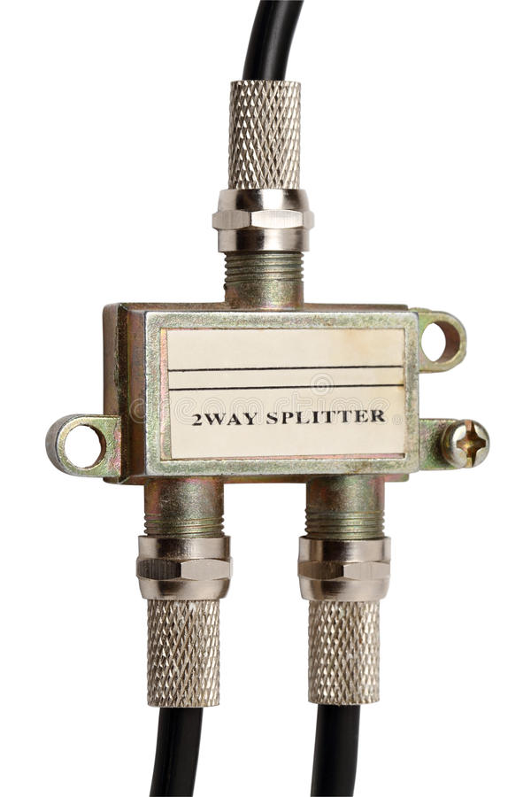 Divisor del cable coaxial foto de archivo libre de regalías