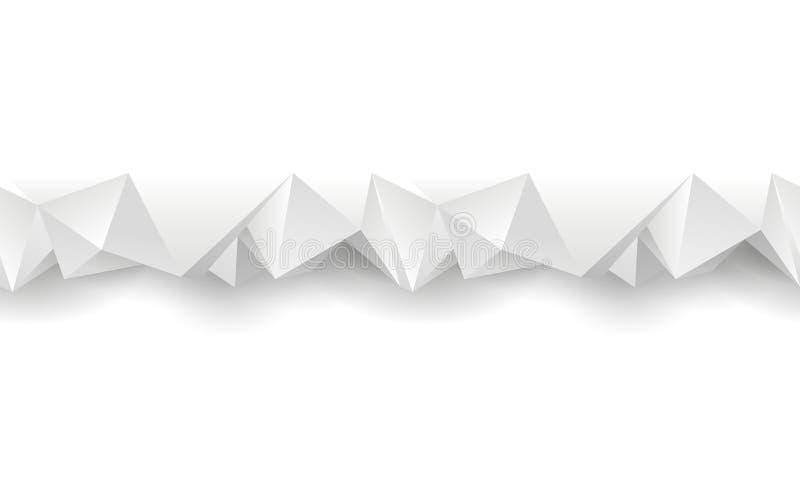 Divisor sem emenda poligonal branco ilustração stock