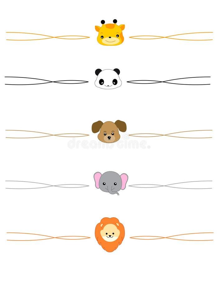 Divisore animale illustrazione di stock