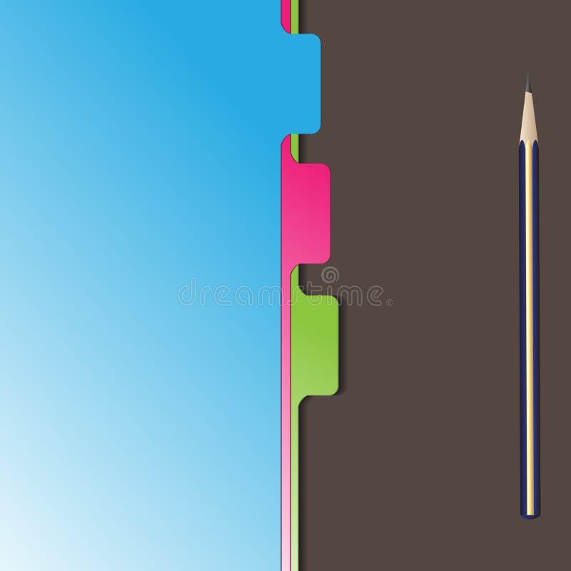 Divisore del separatore del documento illustrazione vettoriale