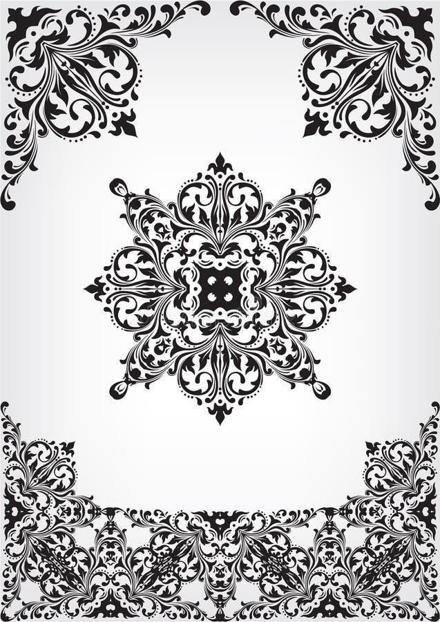 Divisores, cantos e jogo do rolo ilustração royalty free
