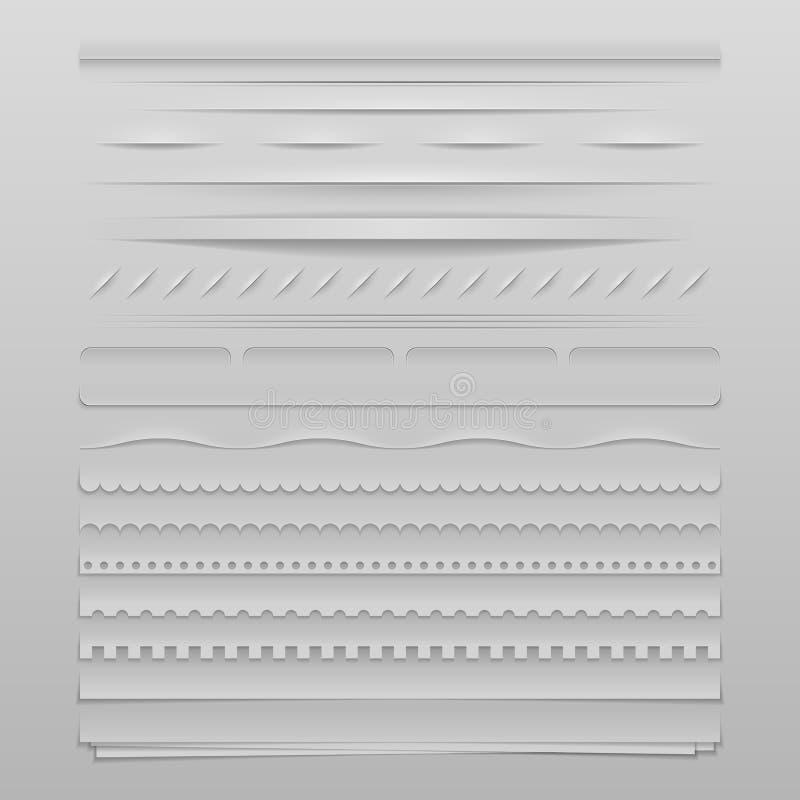 Divisores da Web ilustração stock