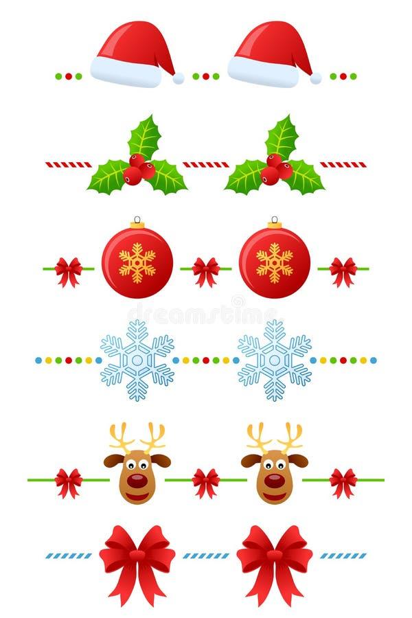 Divisores de la Navidad fijados [2] stock de ilustración