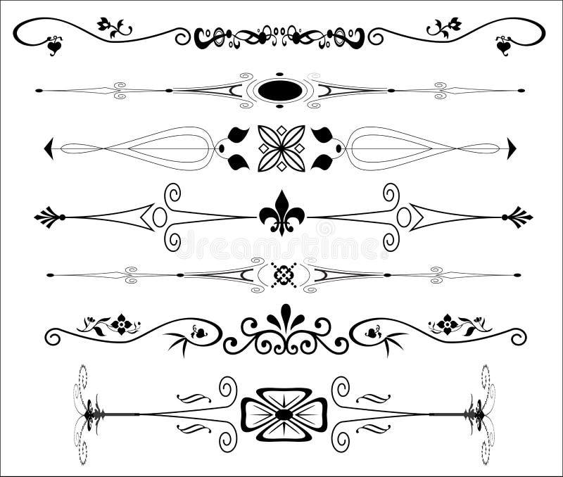 Divisores decorativos do texto ilustração do vetor