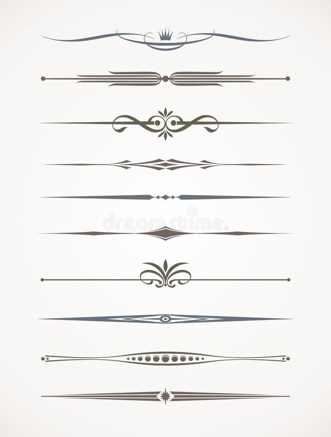 Divisores decorativos do texto ilustração stock