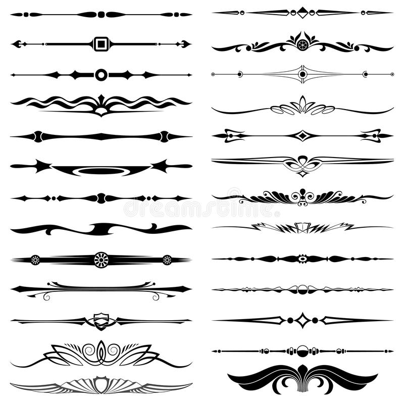 Divisores do texto ilustração royalty free