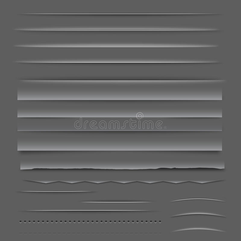 Divisores e réguas da Web ilustração do vetor