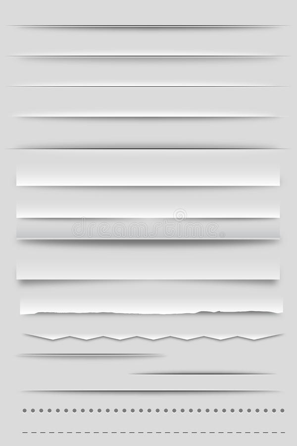 Divisores e sombras do Web ilustração do vetor