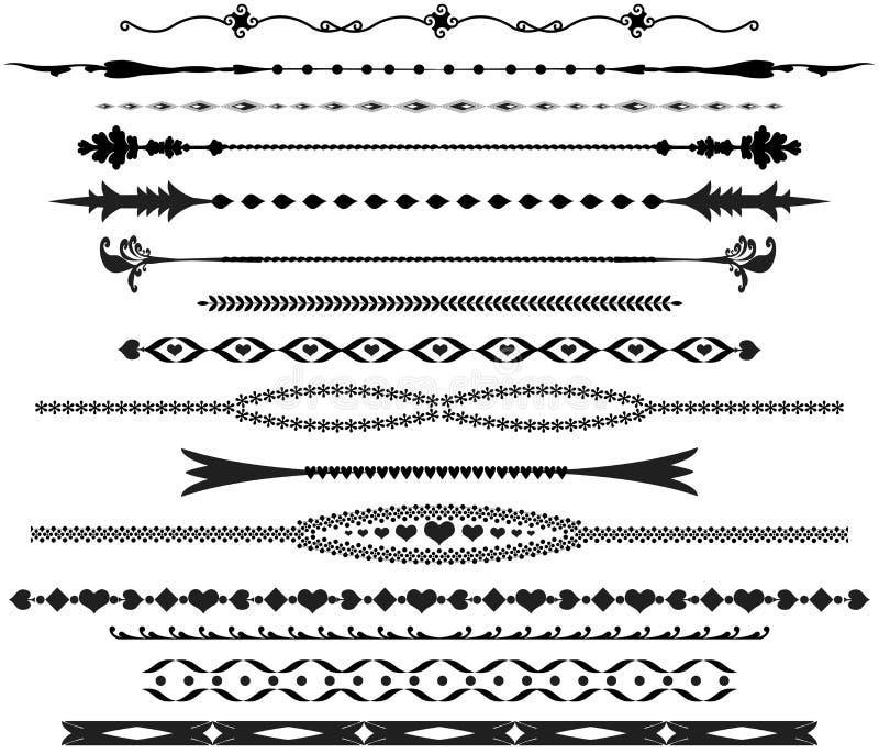 Divisores ornamentales del texto libre illustration