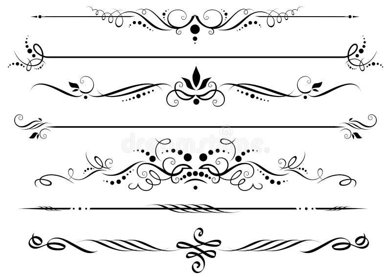 Divisores y fronteras ilustración del vector