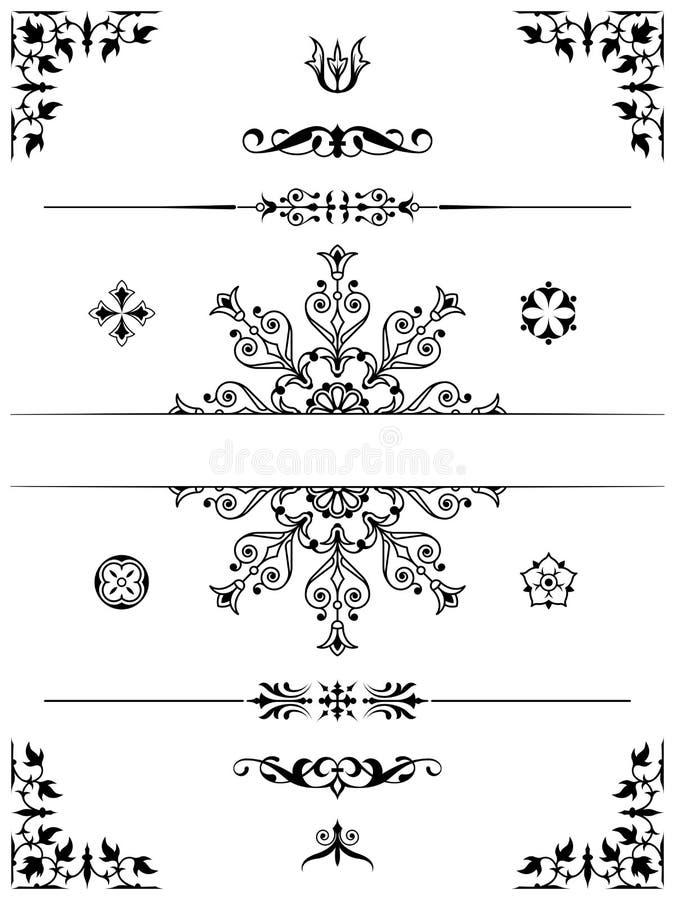 Download Divisori Degli Elementi Di Progettazione Dell'ornamento Illustrazione Vettoriale - Illustrazione di fluire, complicato: 30827224