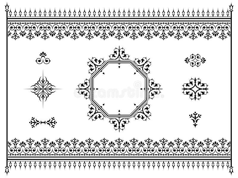 Download Divisori Degli Elementi Di Progettazione Dell'ornamento Con Il Recinto Illustrazione Vettoriale - Illustrazione di ornamentale, monogramma: 30827216