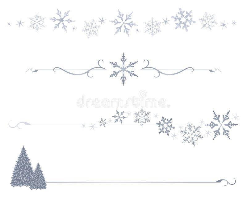 Divisori del fiocco di neve royalty illustrazione gratis
