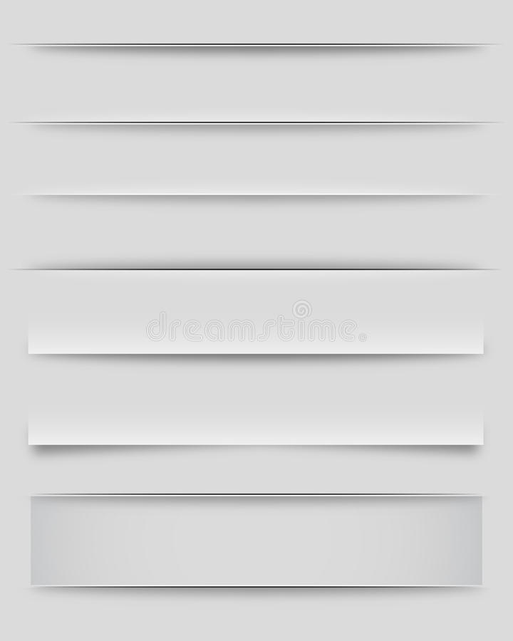 Divisori ed ombre illustrazione vettoriale