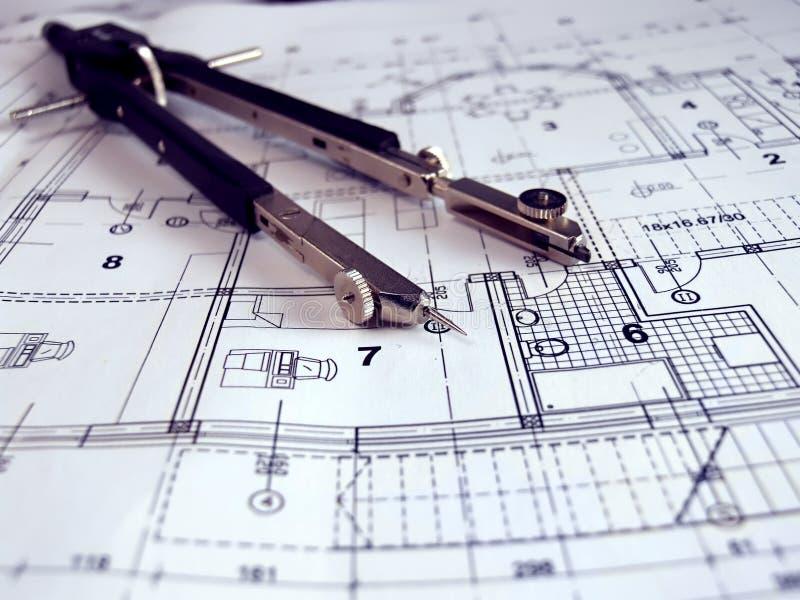Divisori su paln architettonico immagine stock