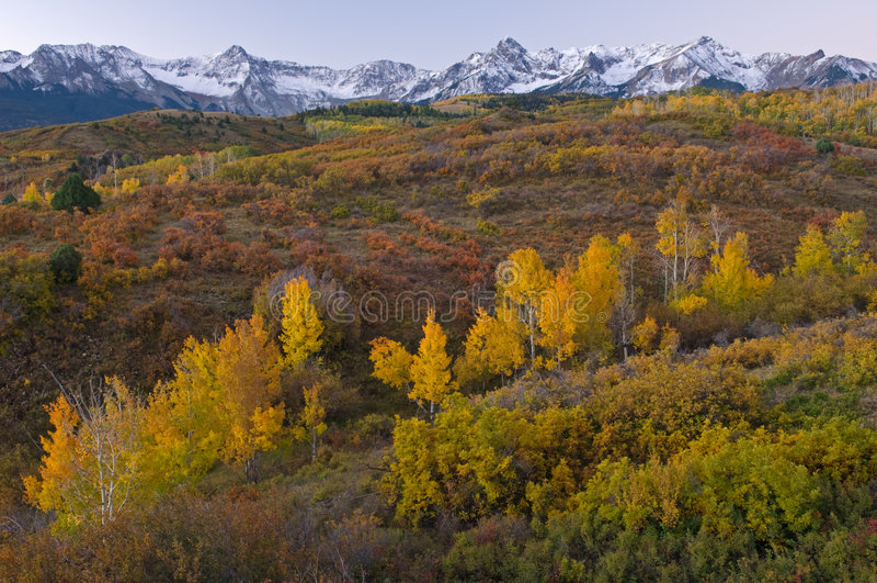 Divisoria Colorado de Dallas del otoño foto de archivo