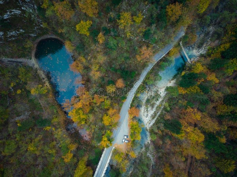 Divje Jezero o lago salvaje, fenómeno geológico en Eslovenia imagen de archivo libre de regalías
