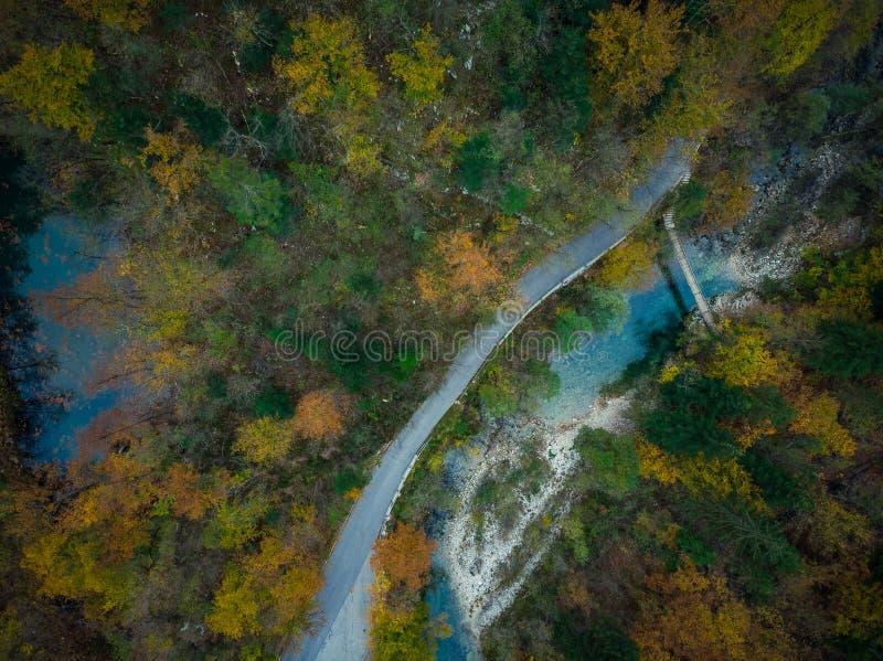 Divje Jezero ou lac sauvage, phénomène géologique en Slovénie image libre de droits