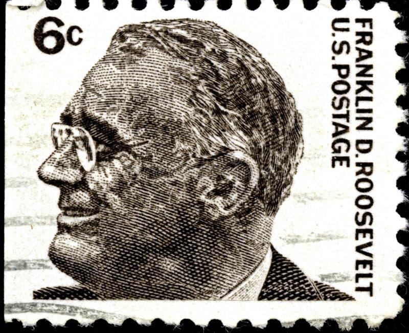 02 11 2020 Divnoe Stavropol Territory俄罗斯邮票美国1966年美国知名人士 — Franklin Delano Roosevelt 库存照片