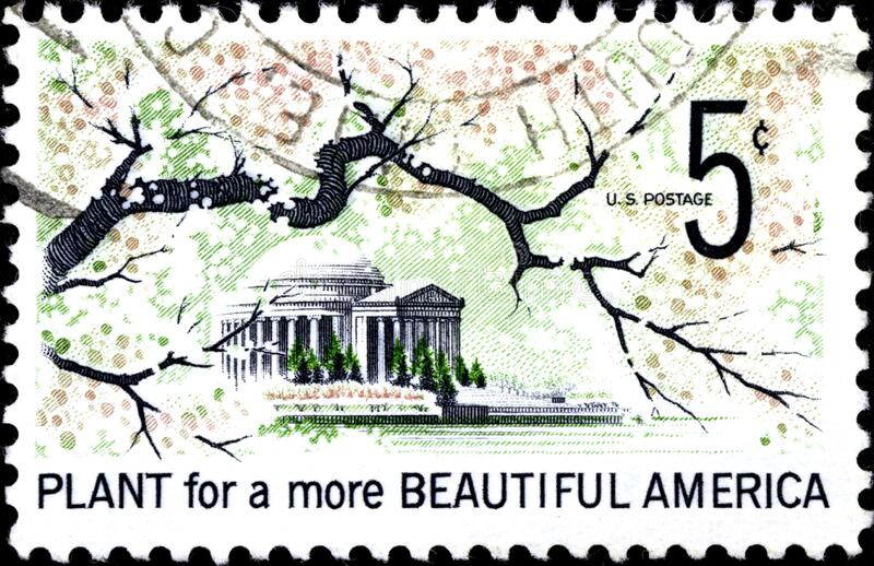 02.10.2020 Divnoe Stavropol Territory Russia the Postage Stamp United States 1966 Beautification of America Plant For More. 02.10.2020 Divnoe Stavropol Territory stock photos