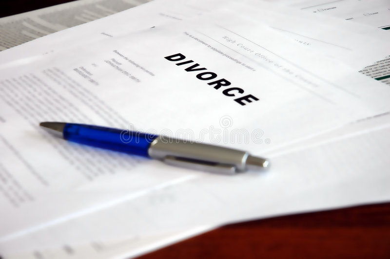 Divorce. Documents ready to be processed