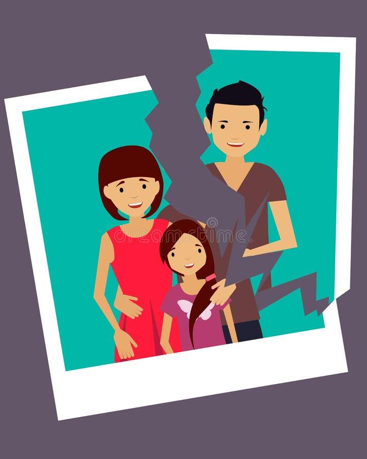 divorce illustration stock