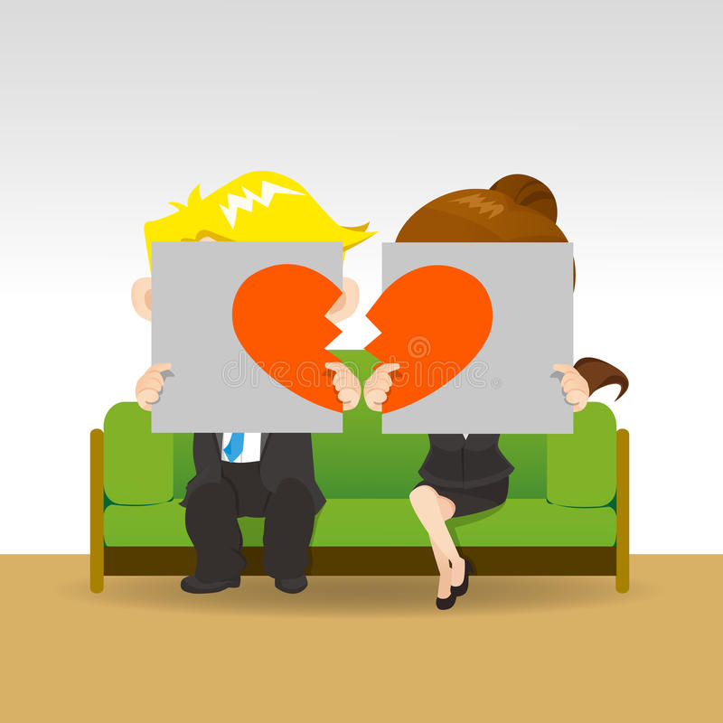divorce illustration libre de droits
