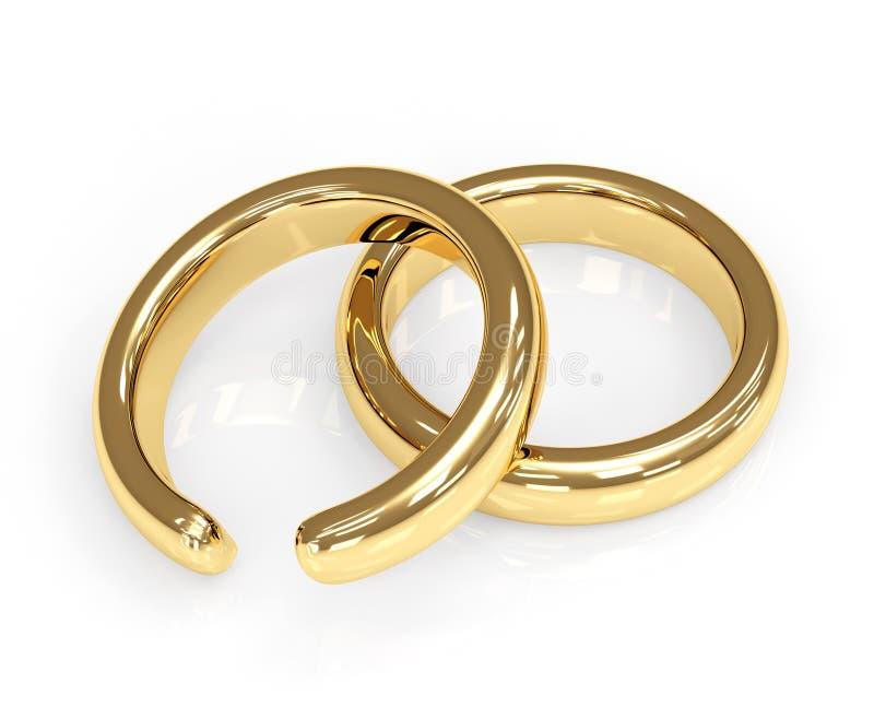Divorce. Symbol of divorce - broken wedding ring vector illustration