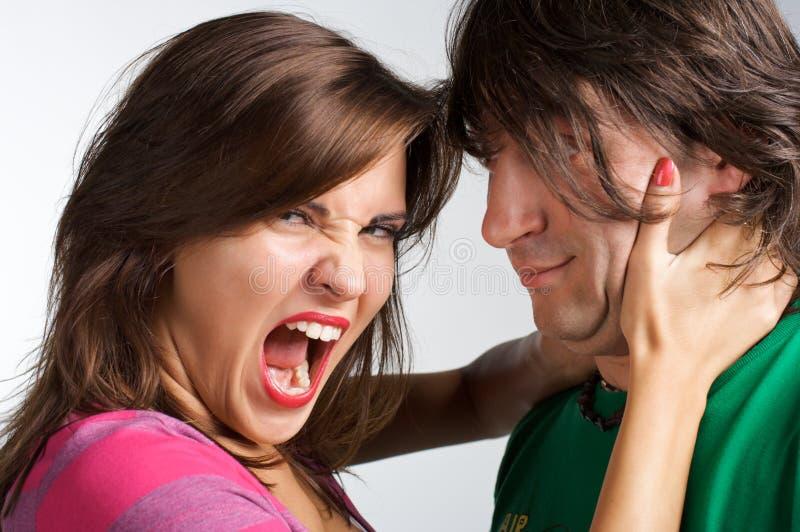 Divorce affectueux images stock